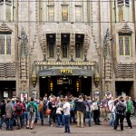 Ruby crowd in front of the famous Pathé Tuschinski